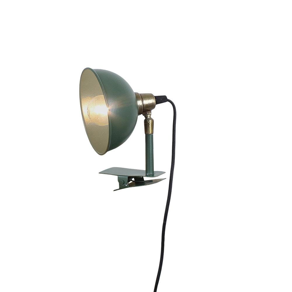 Lamp Pelle w. Clamp Green