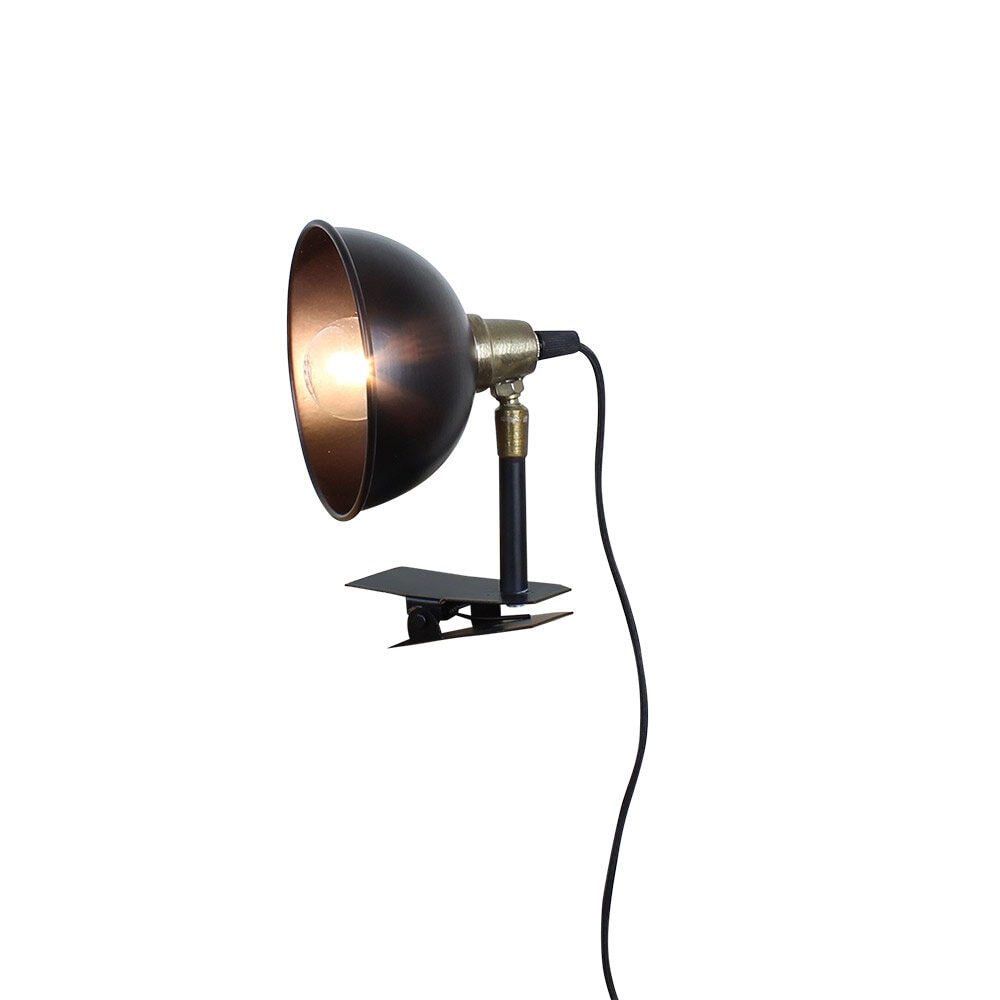 Lamp Pelle w. Clamp Black