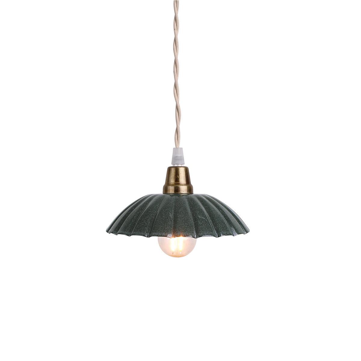 Pendant Lamp Ingrid Dark Green Small