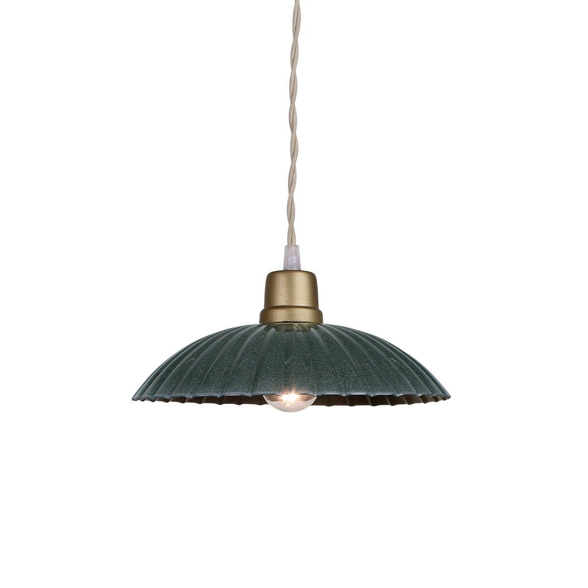 Pendant Lamp Ingrid Dark Green Large